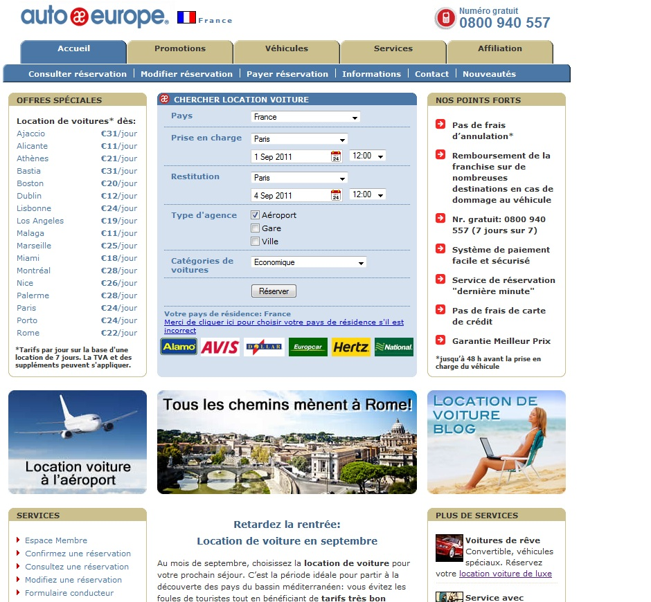 Auto Europe | Location voiture