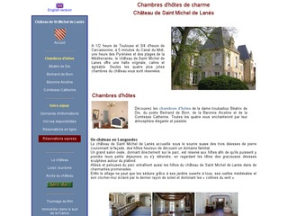 Chambres d'hôtes au château de St Michel de Lanès