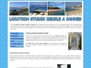 Cannes, location studio meublé pour vacances