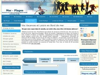 mer-plages est un site annuaire de locations de vacances en bord de mer