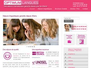 Séjours linguistiques – Optimumlangues