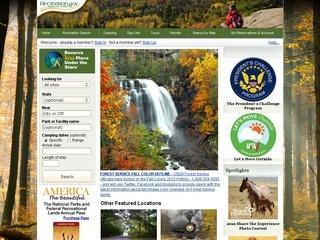 Recreation.gouv, infos sur les parcs nationaux aux Etats Unis