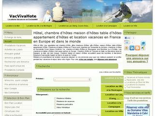 Vacvivahote locations de vacances en France et dans le monde.